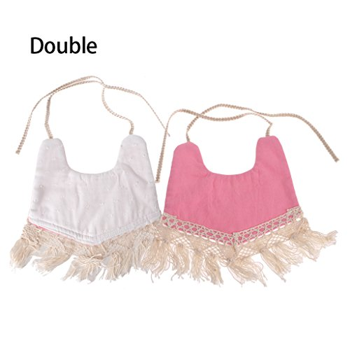 Double-Sided Printing Tassel Bib for Baby,Toddler Triangle Bibs Head Scarf Towel ()