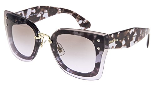 - MIU MIU REVEAL Shield Square Oversized Sunglasses MU04RS Lilac Havana Brown 04R