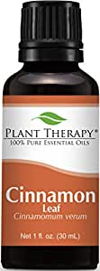 Plant Therapy Cinnamon Leaf Essential Oil. 100% Pure, Undiluted, Therapeutic Grade. 30 ml (1 oz).