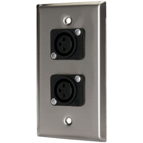 - Pro Co WP1026 (2) XLR Female Wallplate Single Gang