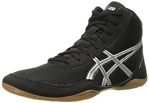 ASICS Men's Matflex 5 Wrestling Shoe, Black/Silver, 7 M US
