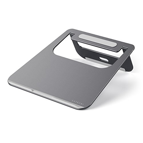 Satechi Lightweight Aluminum Portable Laptop Stand - Compatible with MacBook, MacBook Pro, Microsoft Surface Pro and more (Space Gray)