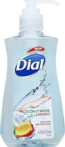 Dial Liquid Hand Soap, Coconut Water & Mango, 7.5 Fluid Ounces