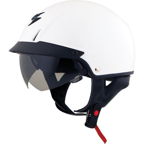 ScorpionExo Unisex-Adult half-size-helmet-style EXO-C110 Helmet (White,Large), 1 Pack