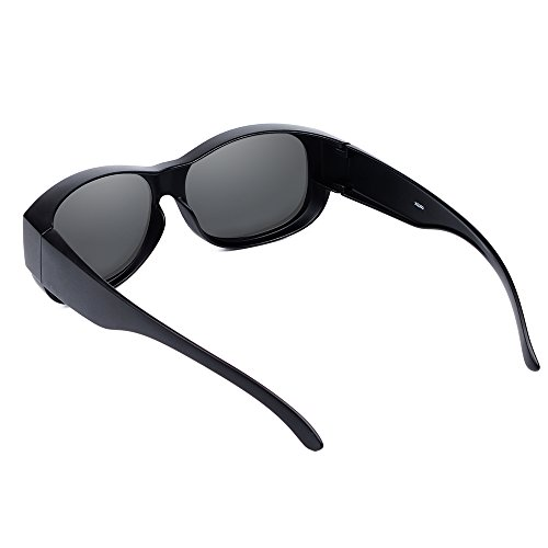 4ff2cd75c4d Ewin O02 Polarized Fit Over Sunglasses Prescription Wear Over Glasses for Men  Women Driving Cycling Fishing