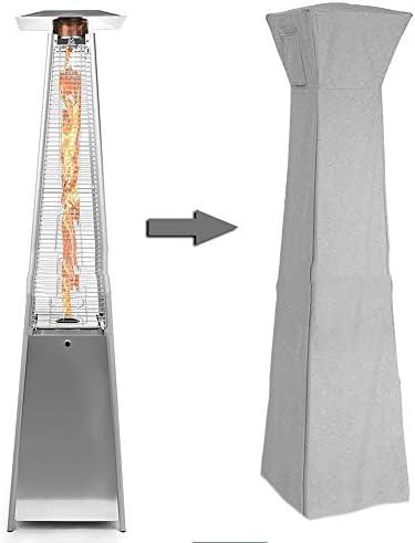 ヒーター、ー、防塵カバー防水日よけキャノピーガーデンテラスガーデン屋外アウトドア防水カバー210ー210Dオックスフォード布プロテクションカバー B20/05/14 (Color : Gray, Size : 84x221cm)