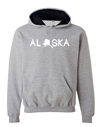 Ugo What to do in Alaska? Map AK Last Frontier Flag Home of University of Alaska Contrast Color Unisex - Vegas Las Outlet In Shops