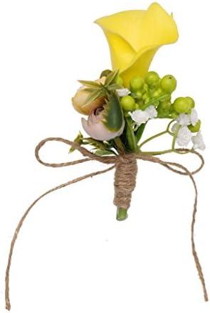 結婚式花嫁衣装新郎タキシードオランダカイウユリ花フローラルブートニアコサージュ結婚式パーティーアクセサリー