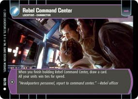 STAR WARS TCG THE EMPIRE STRIKES BACK REBEL COMMAND CENTER 185C at
