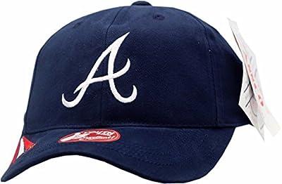 American Needle Atlanta Braves Youth Hat Velcro Back Cliff Logo Block