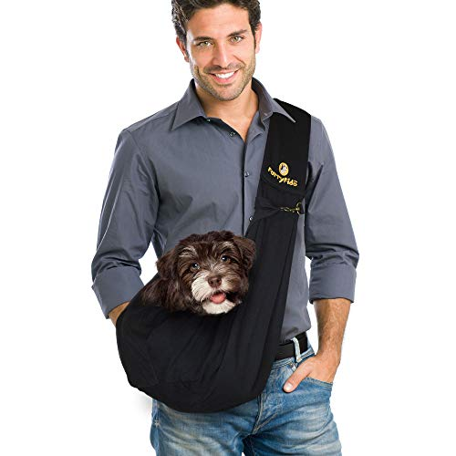 FurryFido Reversible Pet Sling Carrier for Cats Dogs up to 13+ lbs,...