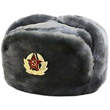 Hat Russian Soviet Army Air force Fur Military Ushanka * GR * Size XL
