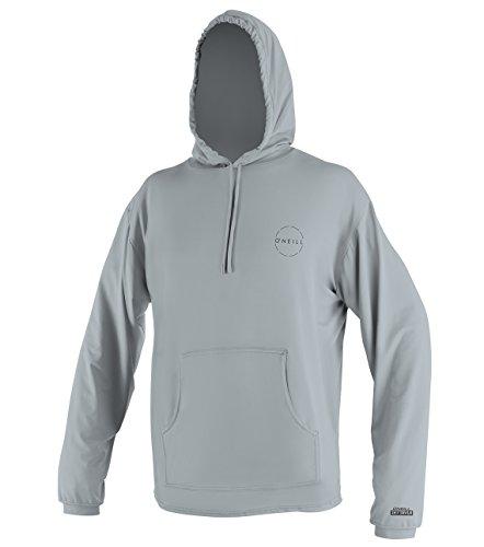 O'Neill Men's 24-7 Traveler UPF 50+ Long Sleeve Sun Hoodie, Cool Grey, Large