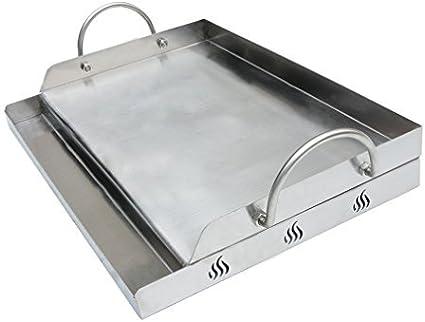 Bandeja Onlyfire de acero inoxidable universal para barbacoa de carbón, plancha, parrilla de gas y más, rectangular, 51x 32x 12,4cm