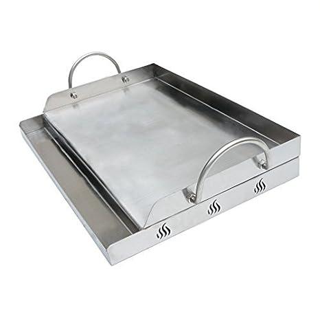 Bandeja Onlyfire de acero inoxidable universal para barbacoa de carbón, plancha, parrilla de gas y más, rectangular, 51 x 32 x 12,4 cm