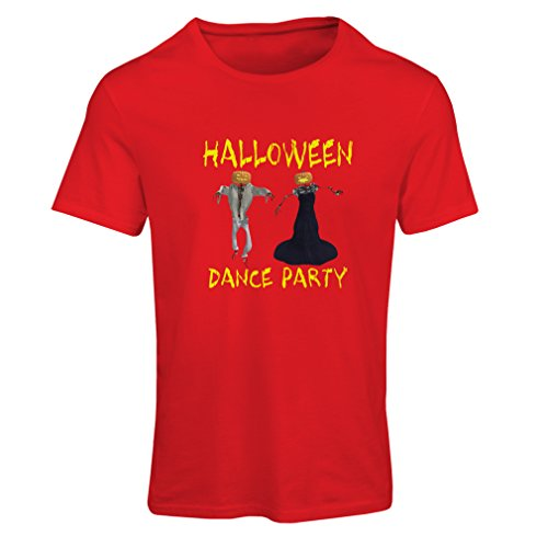 lepni.me T Shirts For Women Cool Halloween Party Events Costume Ideas, (Large Red Multi Color)