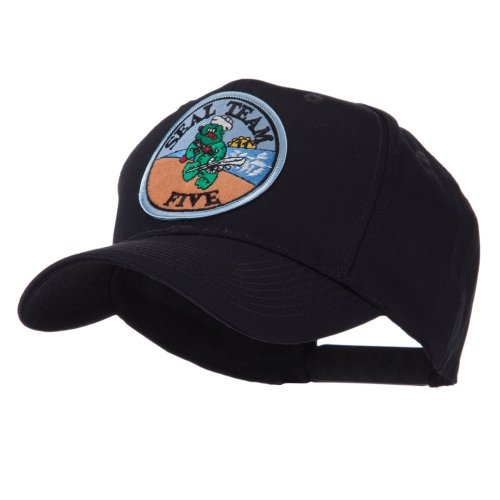 E4hats Navy Seal Team Embroidered Military Patch Cap - Seal Team 5 OSFM