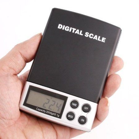 LCD 2000g - 0.1GRAM Digital Pocket Scale Jewelry Weight Electronic Scale - 4.4lbs ()