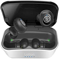 iQute True Wireless Earbuds,Bluetooth Earbuds, Bluetooth 5.0 Headphones, 12mm Graphene Driver, 3D Stereo, Extra Bass, 40+ Hrs Play Time with 1800mAh Charging Case, IPX5 Waterproof , Fast-Pairing, Auto On/Off ,Siri, Noise Cancelling Earbuds with Mic for iPhone Android