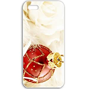 Apple iPhone 5 5S Cases Customized Gifts For Holidays Red Globe Celebrations Holiday White