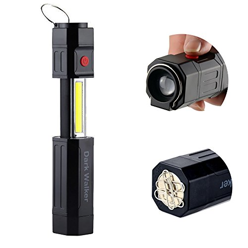 Portable 2 In 1 COB LED Work Light with Magnet,3Modes,Collapsible Flashlight lantern for (3 Way Flashlight)