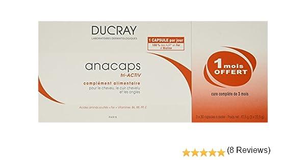 Ducray Anacaps Reactiv Cabello y Uñas, 3 x 30 Capsulas: Amazon.es: Belleza