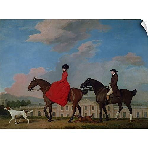 CANVAS ON DEMAND John and Sophia Musters Riding at Colwick Hall, 1777
