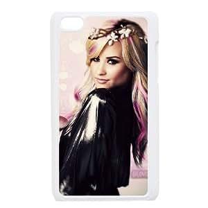 Demi Lovato 2 funda iPod Touch 4 caja funda del teléfono celular blanco cubierta de la caja funda EEECBCAAJ01858