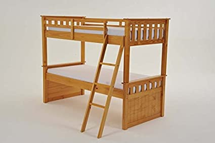 Litera de pino macizo pino litera cama doble, marco de la cama ...
