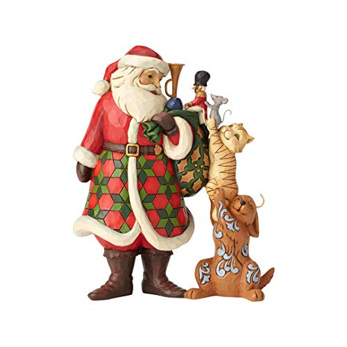 (Enesco Santa with Stacked Animals)