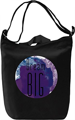 Dream Big Borsa Giornaliera Canvas Canvas Day Bag| 100% Premium Cotton Canvas| DTG Printing|