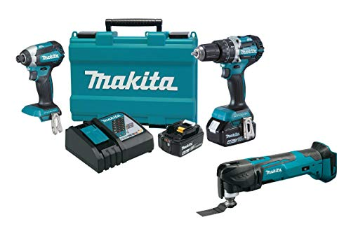 Makita XT269M 18V LXT Lithium-Ion Brushless Cordless 2-Pc. Combo Kit (4.0Ah) with XMT03Z 18V LXT Lithium-Ion Cordless Multi-Tool
