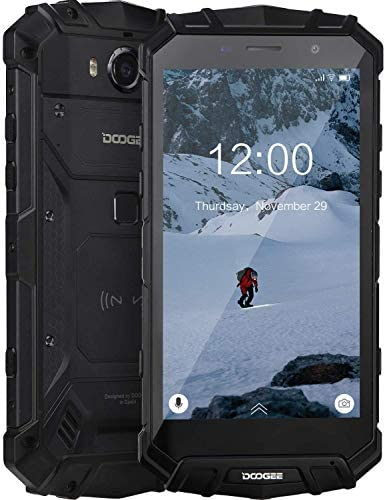 DOOGEE S60 Lite Unlocked Rugged Smartphones Waterproof Rugged Cell Phones 4G Octa-Core 4GB+32GB 5.2 inch FHD Display Phone, Cameras 16MP+8MP, 5580mAh/NFC/Face ID/GPS, Black WeeklyReviewer
