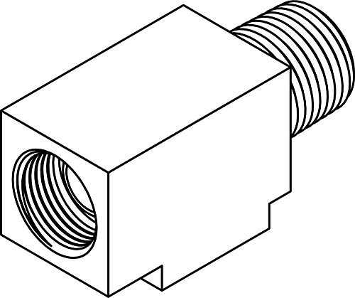 Tompkins 752-04-02 Flare Inverted Tube to Pipe Run Tee Adapters, 7/16-24 Inverted Flare x 1/8-27 MP x 7/16-24 Inverted Flare, Brass