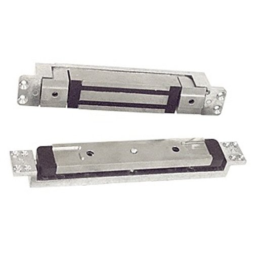 Schlage Electronics GF3000BRD DSM MBS Bottom-Rail Mortise-Mounted Shear Electromagnetic Lock with Status Sensors, Single Inswinging or Outswinging Door, Horizontal Mount, 3,000 lb. Holding Force, Satin Aluminum ()