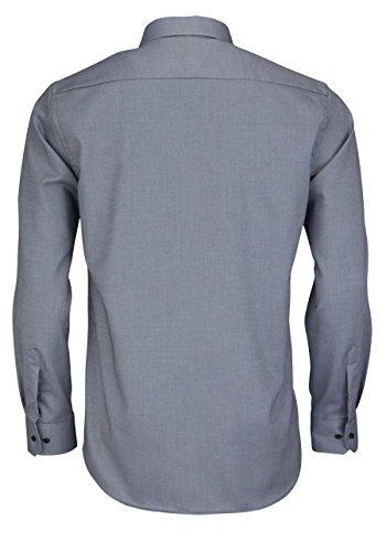 ETERNA Modern Fit Hemd extra kurzer Arm Struktur mittelgrau AL 59