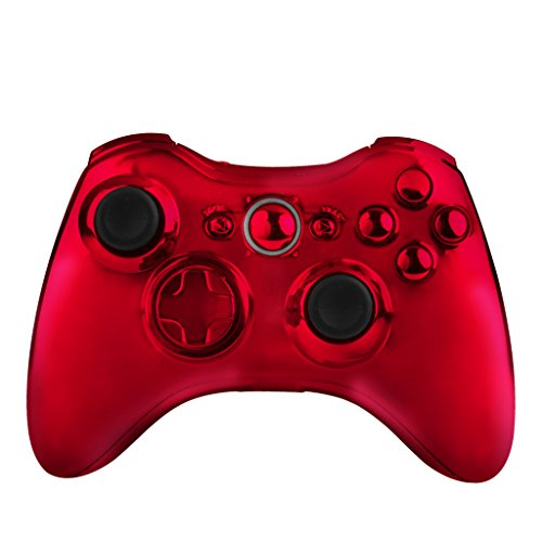 OSTENT Full Controller Shell Case Housing Compatible for Microsoft Xbox 360 Wireless Controller Color - Xbox 360 Console Red
