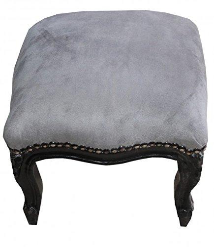 Muebles Antiguos Casa-Padrino Barroco estrado Gris//Negro Heces
