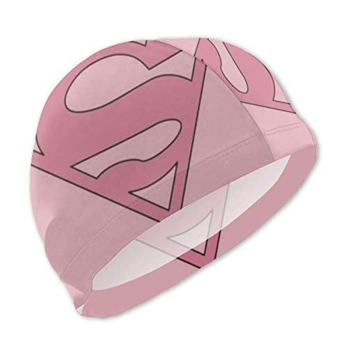 YQLLD Swim Cap for Kids, Fun Supergirl Design Swim Hat for Boys Girls Long and Short Hair]()