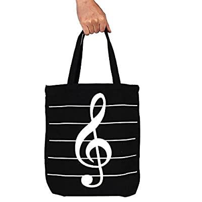 Cavas bag, OPOCC Women Girl's Music Symbol Cotton Canvas Tote Shopping Handbags Shoulder Bags with 2pc free pencil gift. by OPOCC