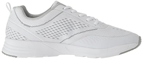 White Highrise Shoe Knit Running Memory Chelsea Fila Women's White X8740XO
