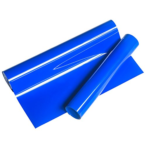 VINYL FROG HTV 0.8x5' Royal Blue Premium PU Heat Transfer Vinyl Used with Heat Press Machine Tool