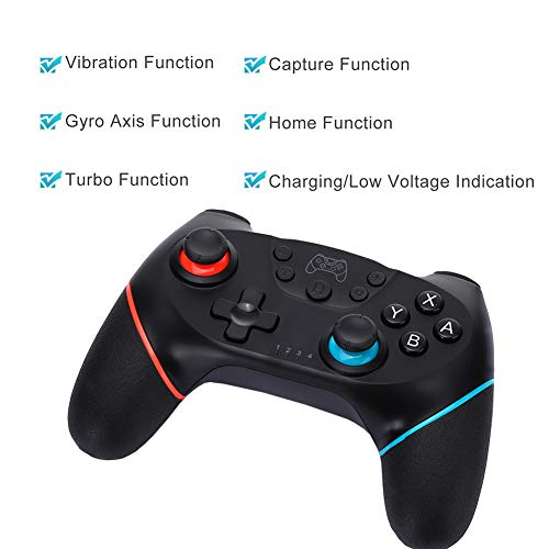 CuleedTec Wireless Controller for Nintendo Switch - Bluetooth Remote Game  Controller for Switch Console, with Gyro and Gravity Sensor, Dual  Vibration,