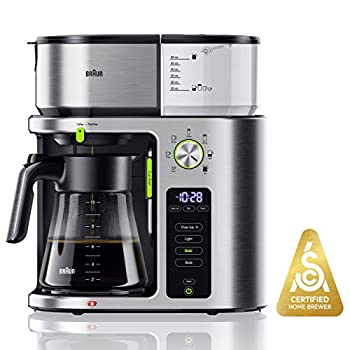 Image of Braun MultiServe Machine 7 Programmable Brew Sizes / 3 Strengths + Iced Coffee, Glass Carafe (10-Cup), Stainless Steel, KF9070SI Home and Kitchen