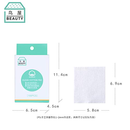 Niaowu Makeup Hydration Cotton Pads Light and Thin 100% Cotton for Sensitive Skin(100 pieces)