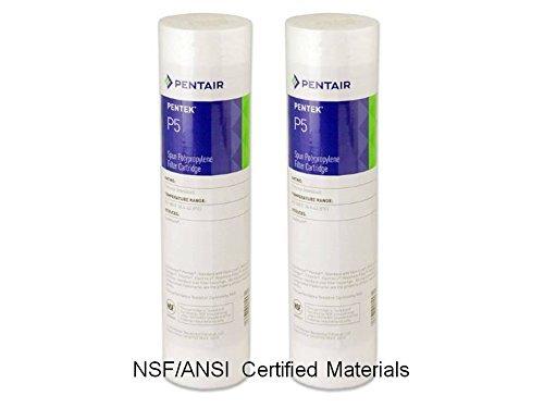 24 pk Pentek 155014-43, P5 9-3/4 x 2-3/8 5 Micron Sediment Melt Blown Filters Cartridges Spun Polypropylene by Pentek