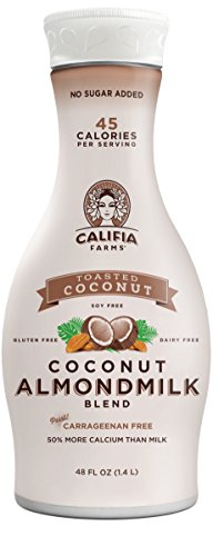 Califia Farms Coconut Almondmilk Blend, Dairy Free, Plant Milk, Vegan, Non-GMO, Toasted Coconut, 48 Oz