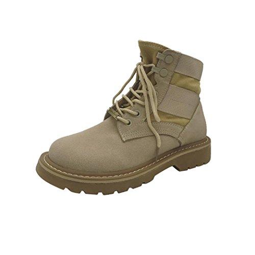2017Women Khaki Shoes Ankle Up Heel Martin Lace Fashion Winter Snow Low TM Warm Elevin Boot H1Cqw5H6