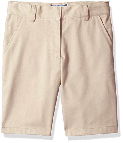 - Cherokee Big Girls' Uniform Twill Shorts, Khaki, 16