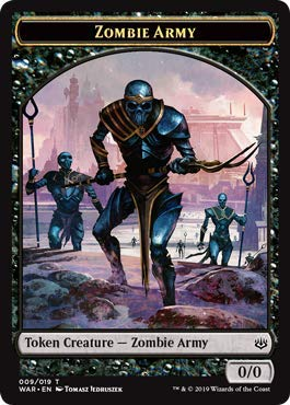 - Magic: The Gathering - Zombie Army Token (009) - War of The Spark